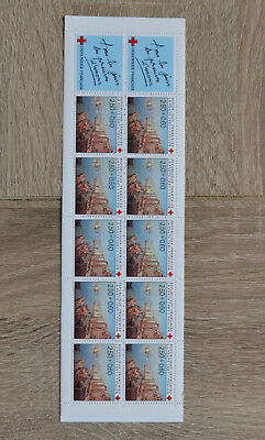timbres france neuf carnet croix rouge 1991  faciale 4.73€