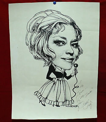 Autographed Caricature By Ted Michener - Signed By Patti Page