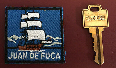 JUAN de FUCA Ship BOY SCOUTS OF CANADA - CANADIAN SCOUTS BRITISH COLUMBIA Patch