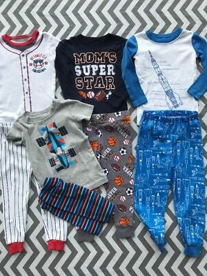 Lot Of Size 2T Toddler Boys Pajamas Children's Place Crazy 8