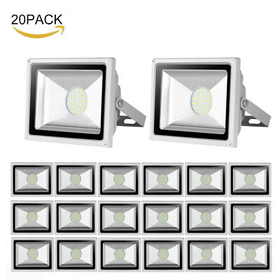 20x 30W LED Floodlight SMD Cool/Day White Outdoor Landscape Security Flood Light
