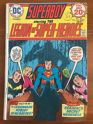 DC Comics Superboy and the Legion of Superheroes Comic No 204 - October 1974