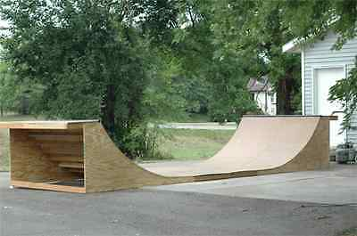 PLANS TO BUILD YOUR OWN Skateboard Ramps - Quarter/Half, Grindbox & MORE PLANS