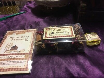 Pot Pourri, Reviver Oil & Scented Sachet - Mulberry Meadow - Gift Set