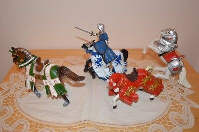 Schleich & Papo Medieval Knight & Horses x 4 2004/2005