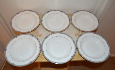 "Wedgwood Amherst Bone China 8"" Soup Bowls x 6"