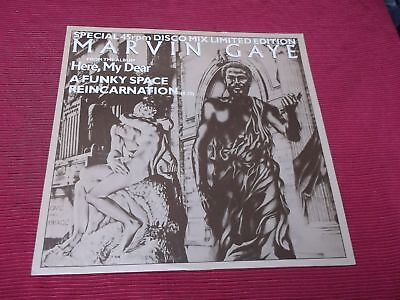 "Marvin Gaye:  Funky Space Reincarnation  UK  A1/B1  1st press 1978  12""    NM"
