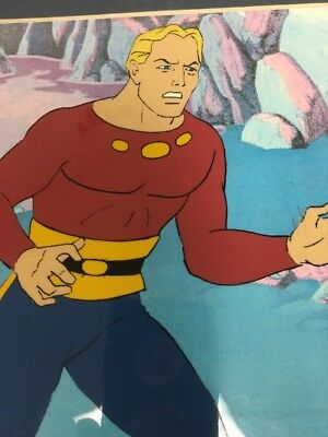 Flash Gordon Original Production Cel W/background Matted