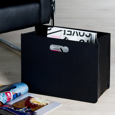 Stylish and modern newspaper & magazine rack - news paper basket - black