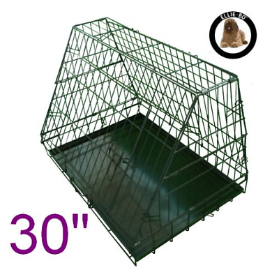Ellie-Bo Sloping Puppy Cage Folding Dog Crate with Non-Chew Metal Tray with Slan