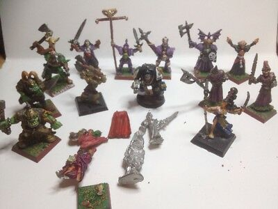 Citadel Warhammer Job Lot Of 14 Metal Hand painted Figures 80s And 90s Unknown