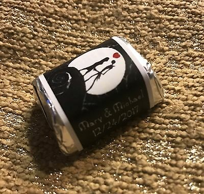 Glossy Nightmare Before Christmas Hershey's Nugget Wrappers Wedding Party Favors