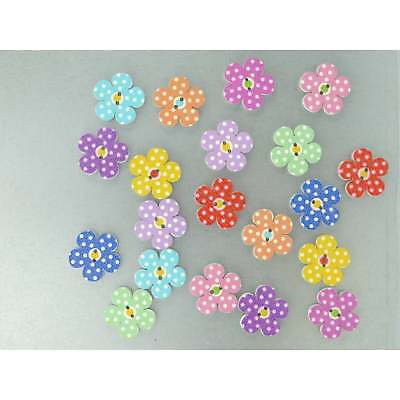 Spotty Flower Fridge Magnets cute strong neodymium painted wood - 4 gift boxed