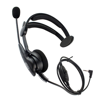 Coodio Over-the-Head Earpiece Headset [Swivel Boom Microphone] [Noise Cancelling