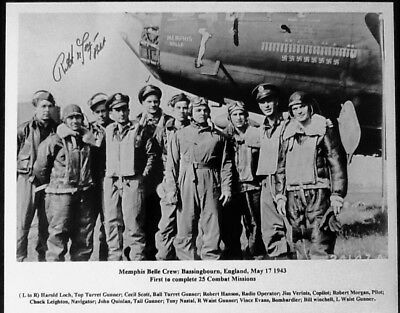 World War 2 (WW II) Robert Morgan Memphis Belle B-17 Pilot Signed 8x10 Photo