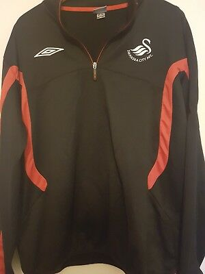 Swansea Football Club Superb Black/Red Training Top Size Adult XXL