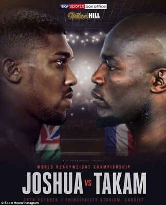 Vip Floor Seats - Anthony Joshua V Carlos Takam X 2 Tickets