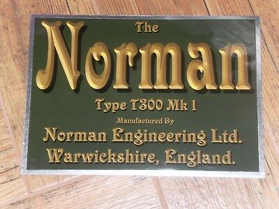 1 x NORMAN T300 MK 1 DISPLAY BOARD STATIONARY ENGINE AIR COOLED TWIN CYLINDER