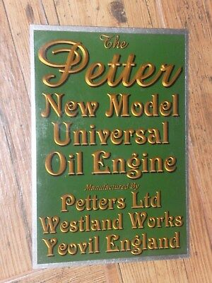 1 x PETTER NEW MODEL UNIVERSAL DISPLAY BOARD STATIONARY ENGINE M TYPE