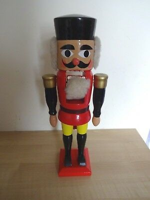 Vintage 1960s 70s Retro Hand Painted German Nutcracker Christmas Party