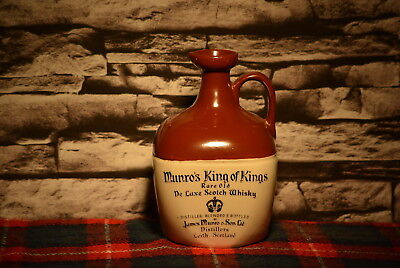 Munro´s King Of Kings Rare Old De Luxe Scotch Whisky Decanter Leer  #c0009