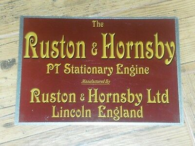 1 x RUSTON & HORNSBY PT  DISPLAY BOARD STATIONARY ENGINE