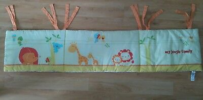 Mothercare cot bumper 'My Jungle Family'
