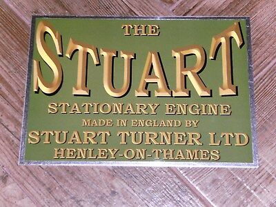 1 x STUART DISPLAY BOARD STATIONARY ENGINE 2 STROKE WATER COOLED