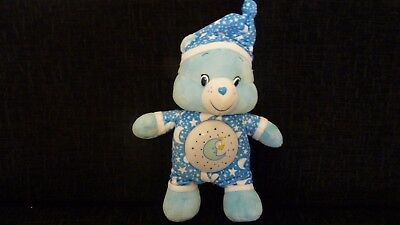"""Care Bear Bedtime Bear musical with night light 2015 Approx 12""""  ** RARE **"""