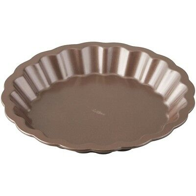 Wilton 2105-0206 Chocolate Wave Pie Pan, 23cm. Brand New