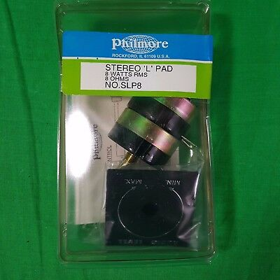 Stereo 2-way Balance Control L-pad 8ohm Philmore SLP-88 New Old Stock