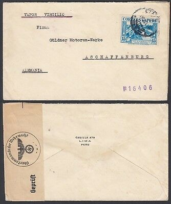 Peru   - Used cover and used stamp to Germany........... (G23501) A8097