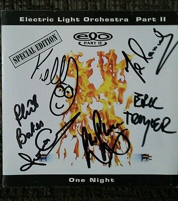 Electric Light Orchestra ELO Part 2 Signed One Night (Sleeve Only No CD) Rare!!