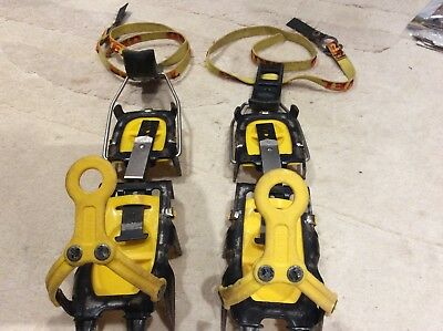 Grivel G12 12 Point Crampons adjustable to size fourteen in good working order