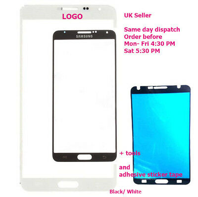 Samsung Galaxy note 3 SM-N9005 Front Outer Glass Screen note3 3G LTE + Adhesive