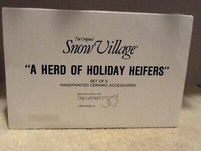 Dept 56 Original Snow Village - A Herd of Holiday Heifers - #54550 - Mint in Box