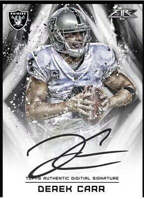 Derek Carr Oakland Raiders Auto Topps Huddle virtual card signature NFL