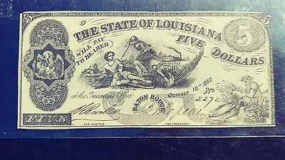 State of Louisiana 5 Dollars