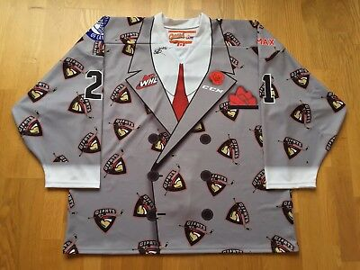 WHL Vancouver Giants Aidan Barfoot Don Cherry Suit Game Worn Jersey
