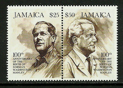 Jamaica #801a Mint Never Hinged Pair - Norman Manley