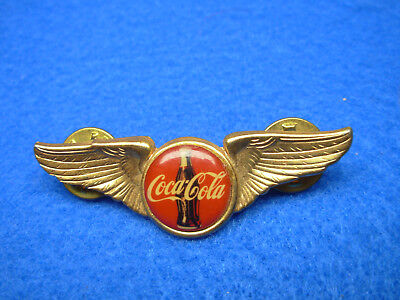 Vintage Coca Cola Bottle Wings Pin Airlines Stewardess ?