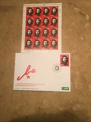 2017 IRELAND CHE GUEVARA STAMP FDC & SHEET (Sold Out at The Irish Post Office)