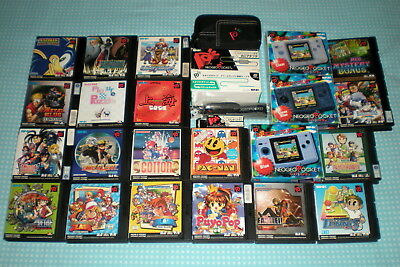 Neo Geo Pocket Color Bundle - 3 NGPC 19 Games - Cotton, Picture Puzzle, Faselei!