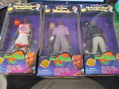 1996 Space Jam All Galaxy Collection Michael Jordan 3 Piece Set Tee Time MVP BB