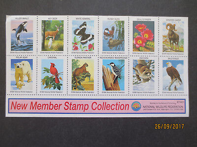 No--1---NATIONAL  WILDLIFE  FEDERATION  STAMP  COLLECTION  --MINT WITH  GUM