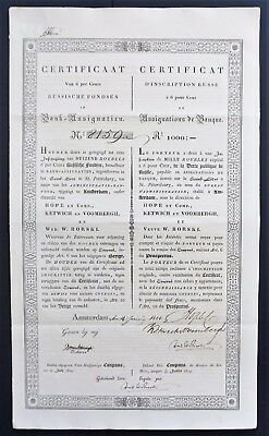 Russia - Russian Imperial Government - 1828 - 6% bond for 1000 roubles