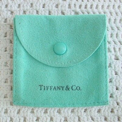 Tiffany And Co Suede Pouch Snap Front 2 Section Envelope