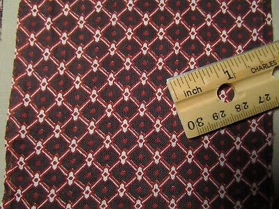 "Antique Fabric Strips/Blocks Black/Red/white calico 12 pcs 4"" x 11"" Quilt"