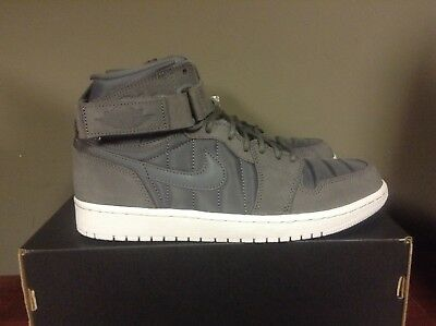 bd21000808b2 AIR JORDAN 1 HIGH STRAP Dark Grey Pure Platinum PADDED PACK 342132-005 NEW