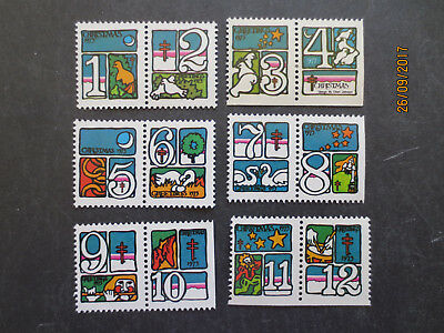 No--1---12  DAYS  TOO  CHRISTMAS --FULL  SET  12 STAMPS --GREAT  ISSUE